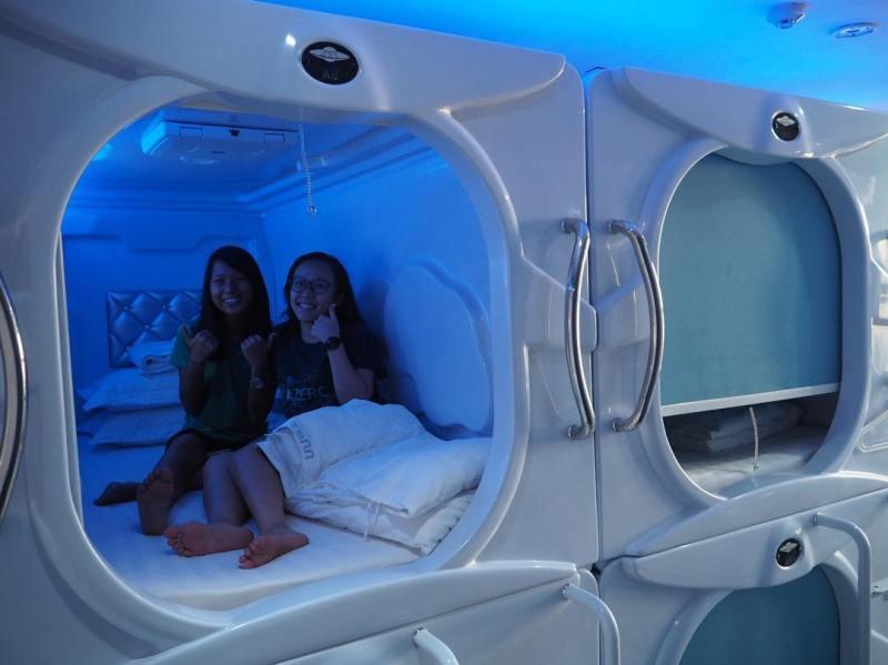 Foto salah satu kamar di Met A Space Pod by IG @metaspacepod