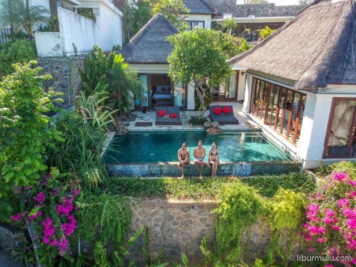 Villa dua kamar dengan infinity pool pribadi