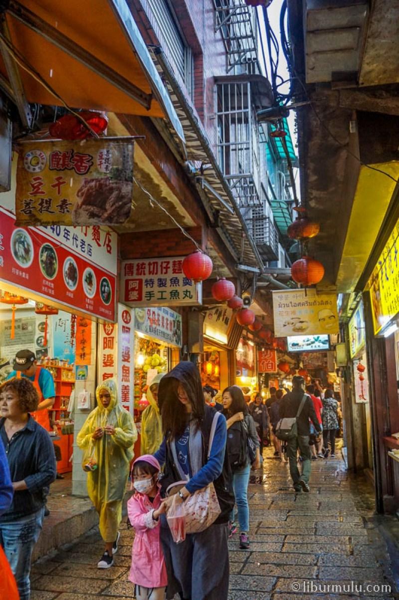 Jalanan di Jiufen Old Street