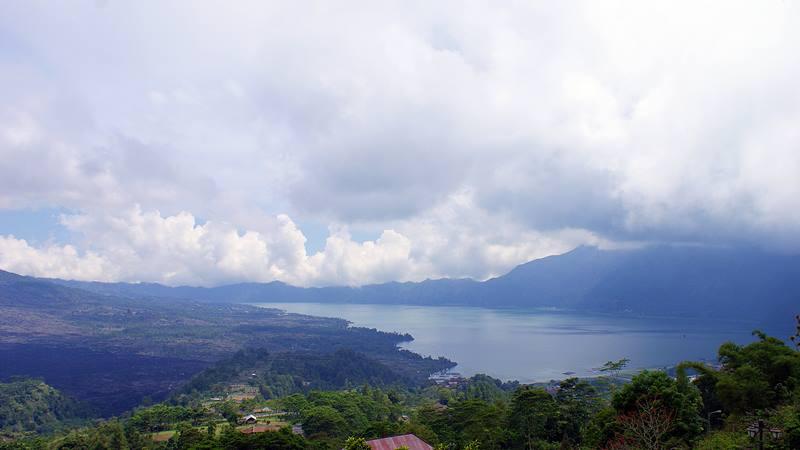 Danau Batur yang ada di Kintamani udaranya segar