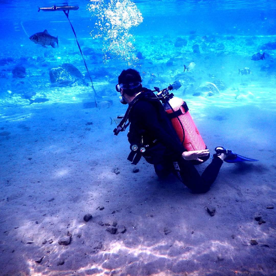 Umbul Ponggok Klaten ini biasa dipakai untuk latihan scuba dive
