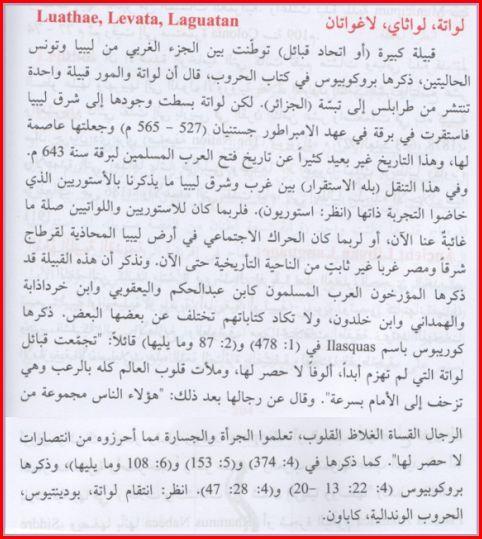 المصدر معجم تانيت للدكتور عبد المنعم المحجوب تاريخ لواته