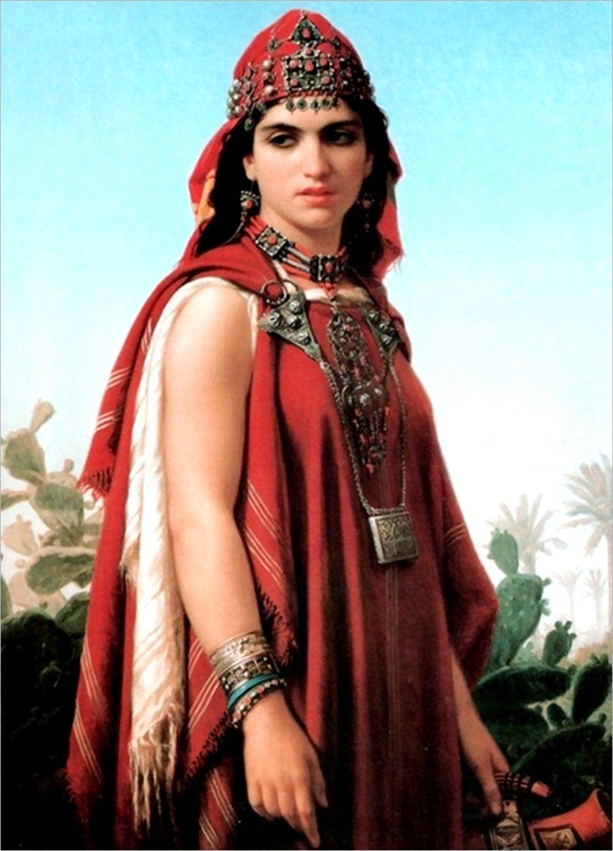 berber-woman-emile-vernet-lecomte-french-artist-1821-1900
