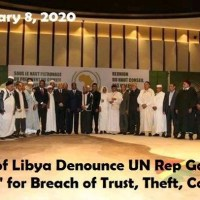 Tribes of Libya Denounce UN Rep Gassan Salame' for Breach of Trust, Theft and Collusion (Eng+Arab).