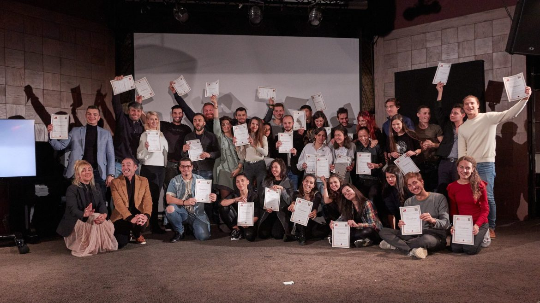 Със студентите от първото издание на Screen Acting Academy у нас. Снимка: Личен архив