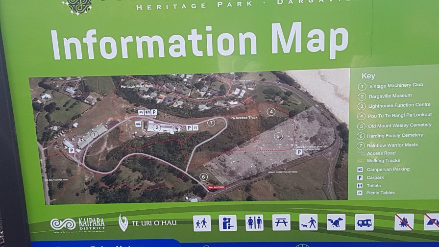 Map of Harding Park location of the musem