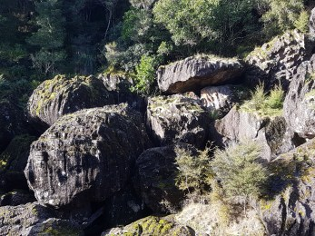 A jumble of rocks