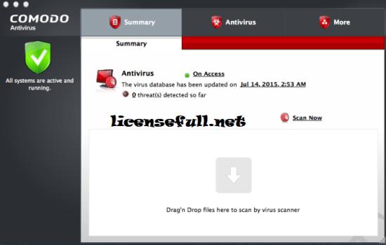 Comodo Antivirus License Key