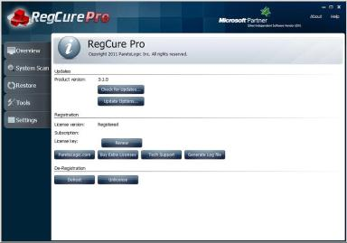 Regcure Pro Key 2017 + Crack Free Download