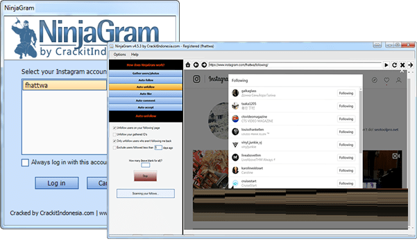 NinjaGram Crack (Instagram Bot) 7.6.4.9 Free Download 2021
