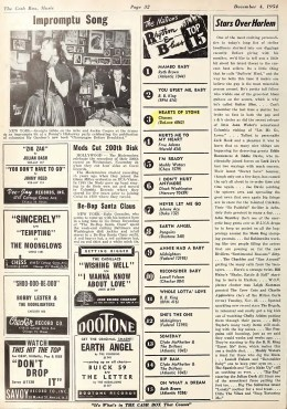 "The Charms ""Hearts Of Stone"" Climbs The National R&B Charts – Cash Box (1954)"