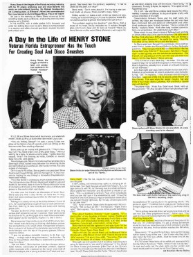 """Henry Stone Is The Kingpin Of The Florida Recording Industry,"" Says BILLBOARD Magazine (1977)"
