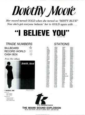 "Dorothy Moore ""I Believe You"""