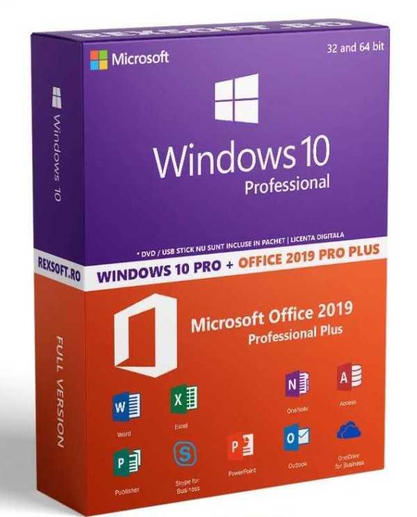Oferta ieftina Windows 10 si Office 2019