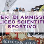 Criteri di ammissione al Liceo Scientifico Sportivo