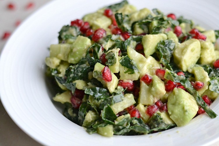 Avocado Pomegranate Salad (AIP/Paleo/Refined Sugar-Free)