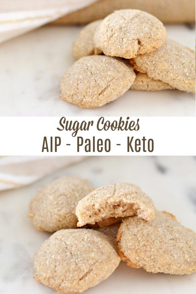 Sugar cookies (AIP/Paleo/Keto) for pinterest