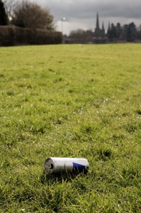 Litter on Nether Stowe Fields