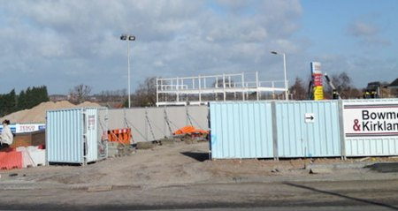 The first stage of the new Tesco development. Pic: Sam Ackroyd