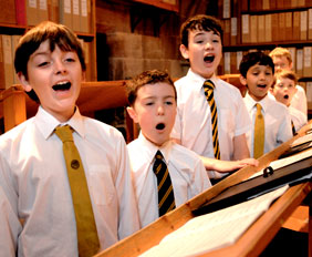 Lichfield Cathedral Choir choristers