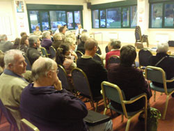 Residents at the Streethay Against Development meeting