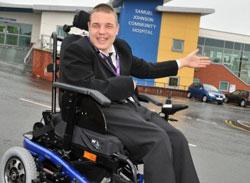 Saxon Hill Special School student Chris Cotterill