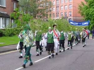 Green Man's Morris leading the procession last year