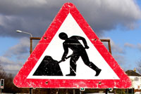 Roadworks sign. Pic: Auntie P