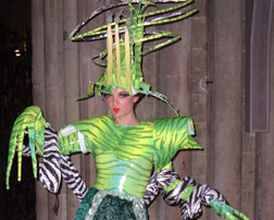 Designer John Brooking's costume for Envy, one of the Seven Deadly Sins in Doomsday