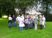 Walkers touring Lichfield's historic trees