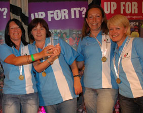 Sian Williams, Penny Lovely, Dawn Evans and Dawn Slater