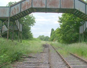 The bridge at what was once Hammerwich Station. Pic: Dawntreader
