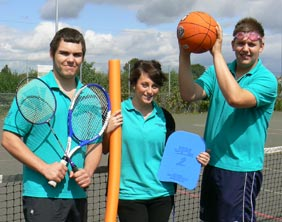 Leisure centre staff Sam Corbet, Emma Tye and Jack Wort