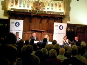 Any Questions at the Guildhall. Pic: Rob Morris