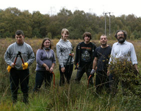 Forest of Mercia Youth Rangers prepare to clear heathland