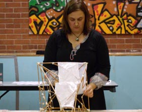 Susan Clarke from B Arts who will be helping people create their lanterns