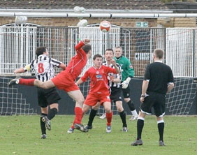 Action from Glapwell v Chasetown. Pic: Dave Birt