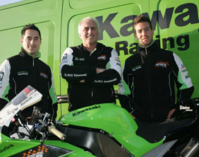 Simon Andrews and Gary Mason with Nick Morgan