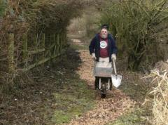 Lawrence Oats, eader of the Burton Conservation Volunteers