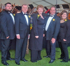 Some of the Bella Musica! members pictured at the Lichfield Proms in Beacon Park