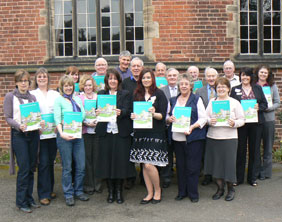 Christine Cole and Beverley Davidson with some of those who attended the training event