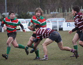 Graham Shelley on the run for Burntwood RUFC. Pic: Joanne Gough
