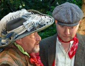 Ken Knowles and director and actor Dan Branch in the 2008 Shakespeare in the Park production of Love's Labour's Lost