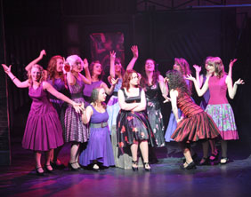 Members of Lichfield Garrick Youth Theatre on stage. Pic: Michael Smith