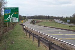 The A38 at Bassetts Pole. Pic: Adrian Bailey
