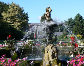 The fountain in Beacon Park