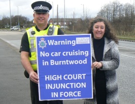 Sgt Paul Handley and Cllr Helen Fisher