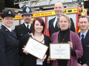 Jason Humphries, Vincent Parker, PC Richard Allsop, RSPCA Inspector Jackie Hickman, Emma Rawling and Emma Holgate