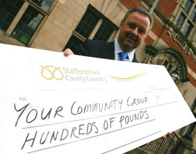 County Councillor Ben Adams launches the Staffordshire Local Community Fund