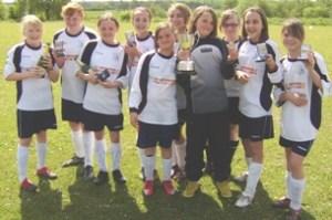 The League Cup-winning Lichfield Diamonds U12 side